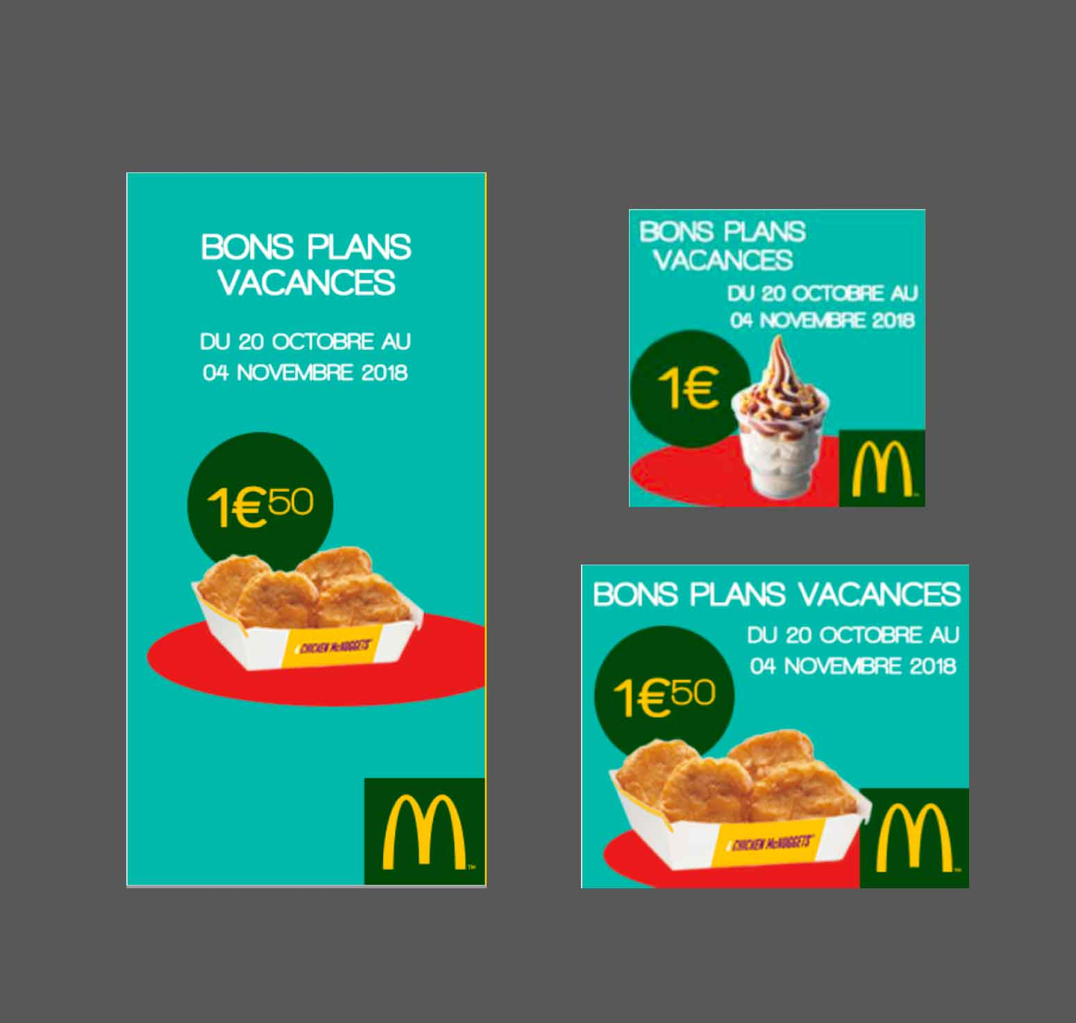 Campagne display - McDonald's