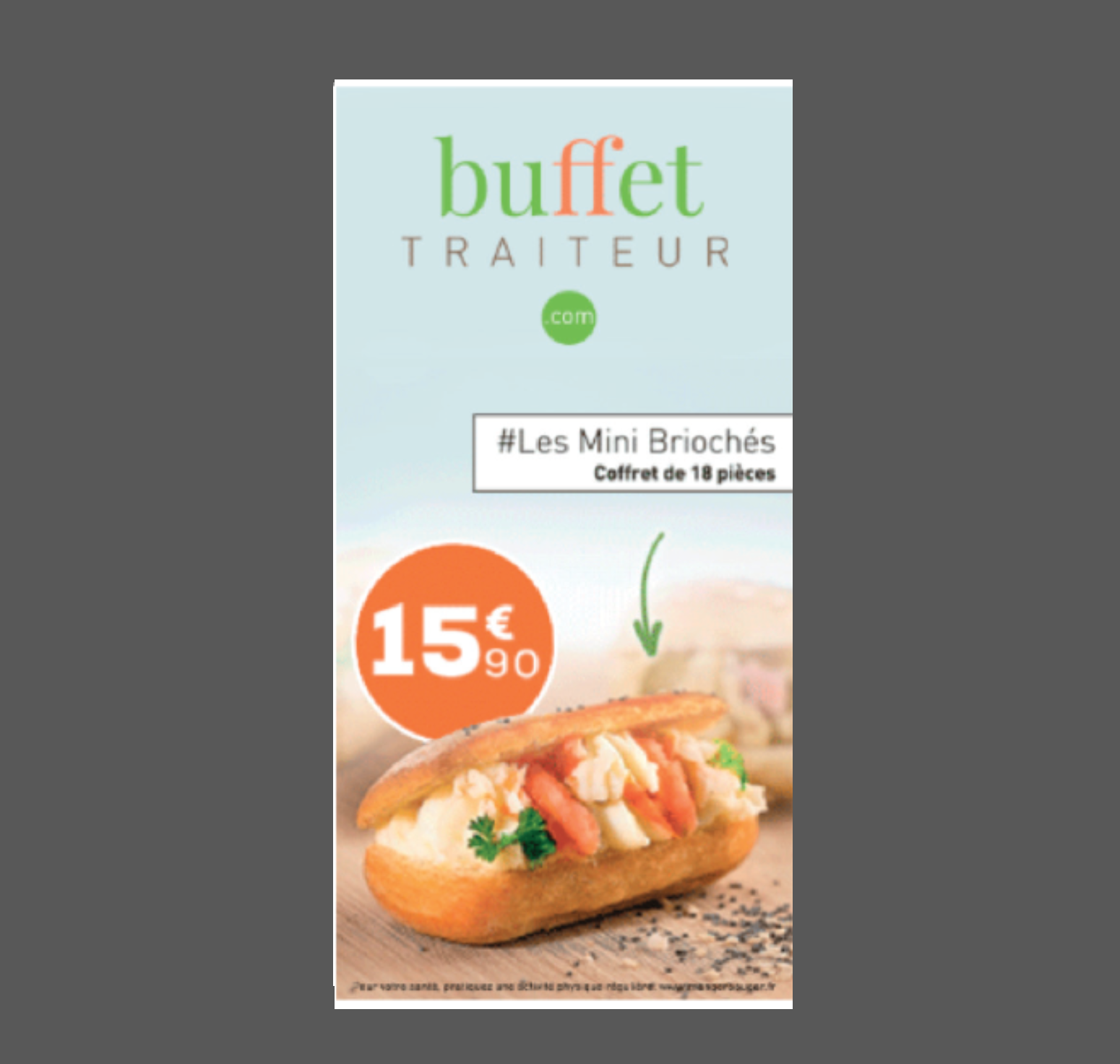 Campagne display - buffet traiteur
